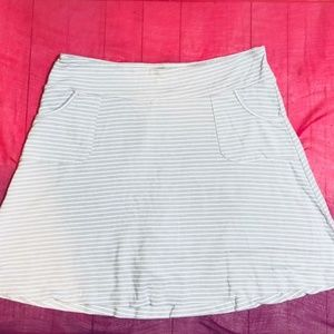 Gray And White Stripe Scooter Skirt